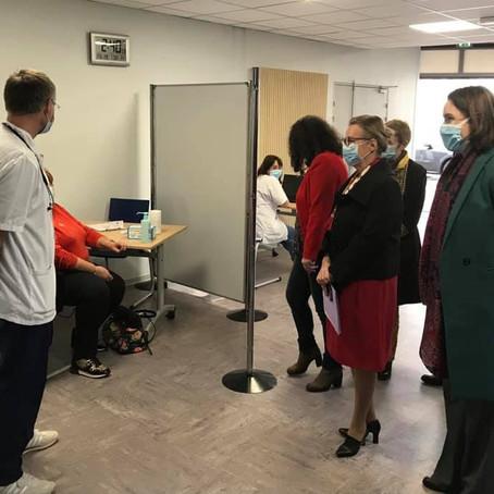 Inauguration du centre de vaccination de Gex