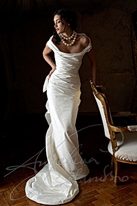 Designer wedding dresses by Angelina Colarusso for Elegant Mature Brides with couture wedding dresses and Wedding Dresses for Older Brides and Curvy Mature brides.