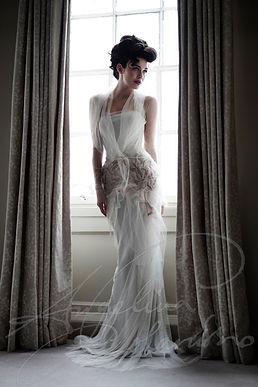 Fortuny Designer Wedding Dess by Wedding Dress designer Angelina Colarusso
