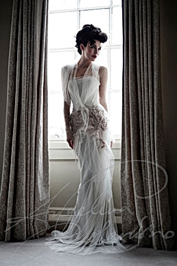 Fortuny Designer Wedding Dess by Wedding Dress designer Angelina Colarusso