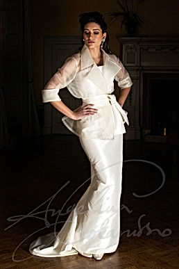 Garbo Wedding Dress - Designer Wedding Dresses by Wedding Dress Designer Angelina Colarusso.