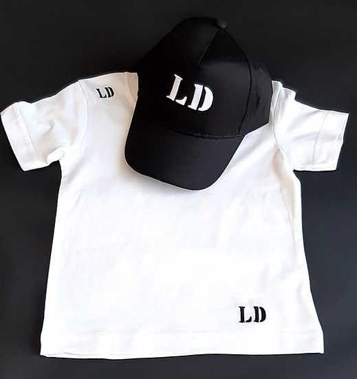 Personalised Embroidered Kids Tee & Cap Set