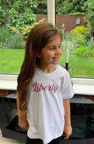Personalised Kids Liberty Tee