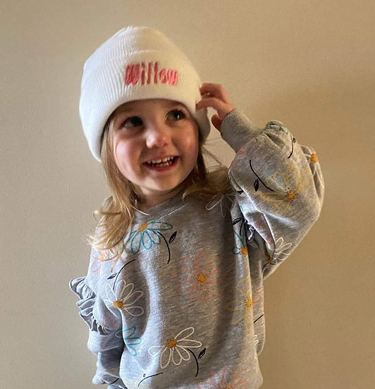Personalised Kids Beanie Hat