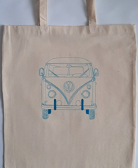 Embroidered Campervan Tote Shopper Bag