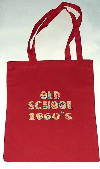 Retro Cotton Tote Shopper Bag