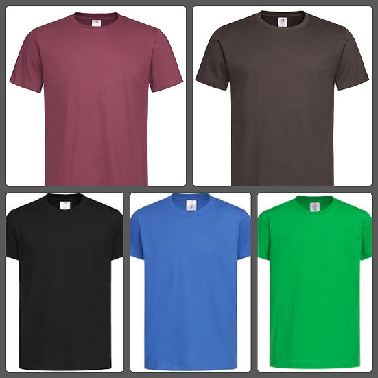 Adults Unisex 100% Cotton Tee Set of 3