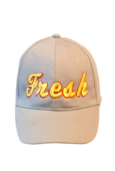 Fresh 3D Puff Embroidered  Buckle 6 Panel Cap