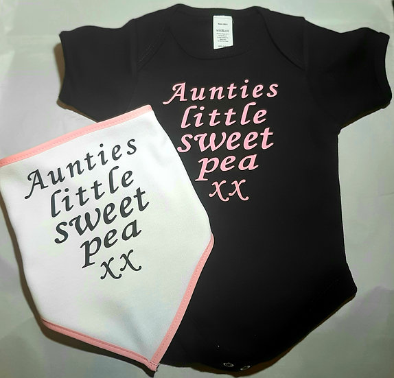 Personalised Baby Body Suit & Bandana Bib