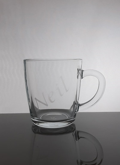 Personalised Etched Glass Mug