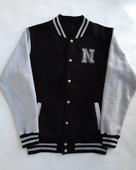 Personalised Kids Embroidered Initial Varsity Jacket
