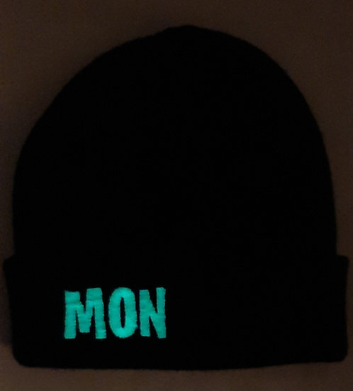 Personalised Glow in the Dark Adults Beanie Hat