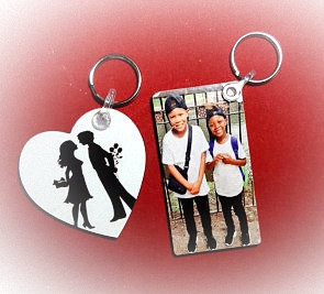 Personalised Keyrings Set Of 2