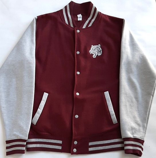 Adults Embroidered Tiger Head Varsity Jacket