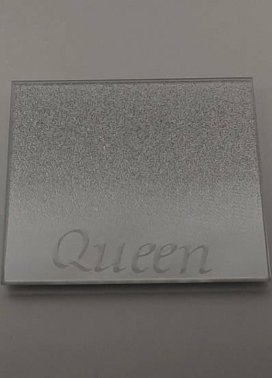 Personalised Mirrored Glitter Coaster set of 2