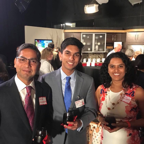Aryaman Khandelwal with his paretns at the Speakers' Reception