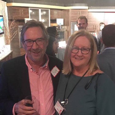 TEDxLehighRiver Marketing Co-chair and founding partner Carolyn Katwan with Jay Durco