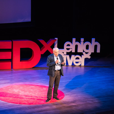 John Dodds sets the stage for TEDxLehighRiver