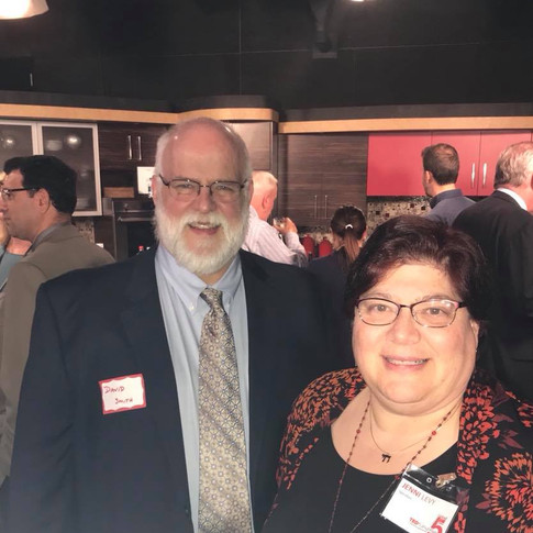 Jenni Levy and David Smith at Speakers' Reception