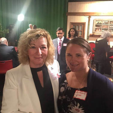 Speaker Curation/Coaching Chair and Founding Partner, Lisa Getzler with Lehigh Valley Health Network's Jen McGarry