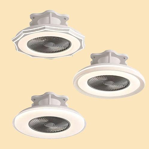 (包送貨)LED雙色燈 風扇吊燈一體燈 帶遙控 臥室風扇燈(約5-7天送到)