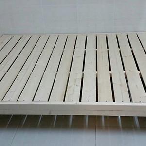 實木單人/雙人床(2CM床頭板)