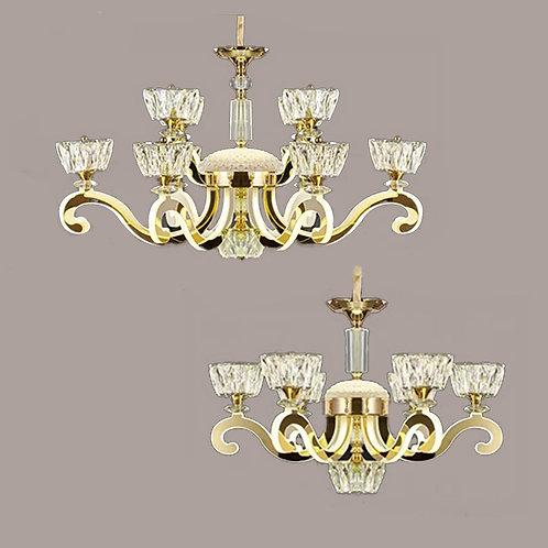 (包送貨)LED中性光 不鏽鋼/水晶燈 亞克力發光燈 時尚風格 客廳房間燈(約5-7天到)