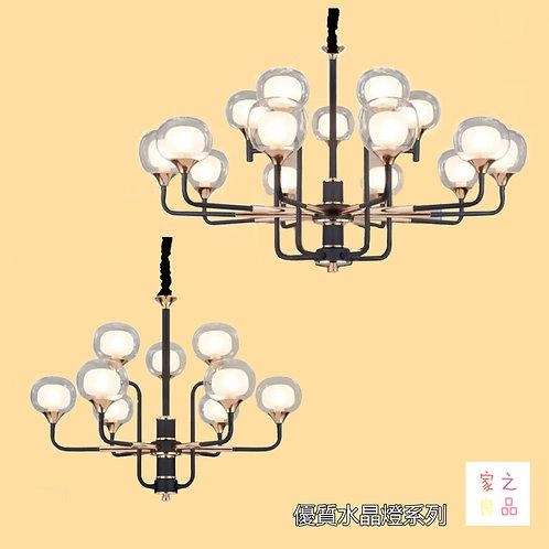 (包送貨)自帶光源吊燈 北歐風格 鐵藝風格 客廳房間燈(約5-7天到)