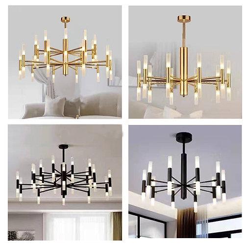 (包送貨)鐵藝噴漆 簡約風格 北歐風格 時尚風格 客廳房間燈(約5-7天到)