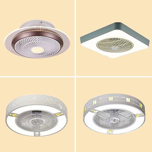 (包送貨)LED三色調光燈 風扇吊燈一體燈 帶遙控 臥室風扇燈(約5-7天送到)
