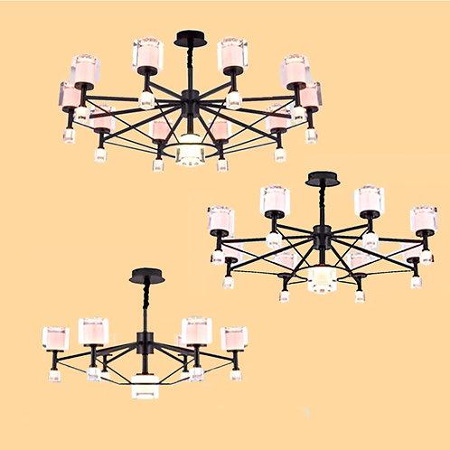 (包送貨)LED單色中性光 北歐風格 鐵藝風格 客廳房間燈(約5-7天到)