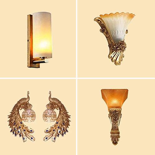 (包送貨) 木藝/樹脂壁燈系列 臥室床頭燈 戶外過道燈(約5-7天送到)