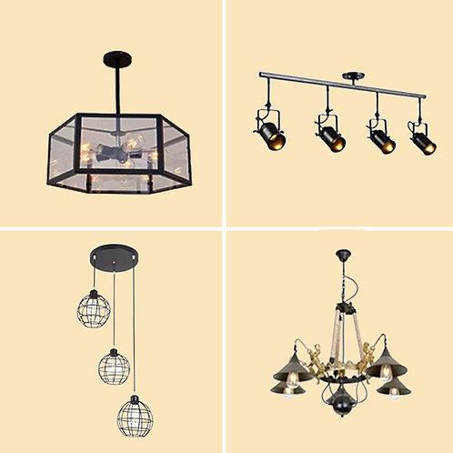 (包送貨)現代簡約風格  鐵藝風格 餐桌燈具 餐吊燈 餐廳客廳燈 (約5-7天送到)