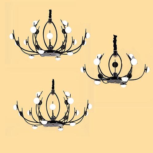 (包送貨)LED三色調光燈 北歐風格 鐵藝風格 客廳房間燈(約5-7天到)