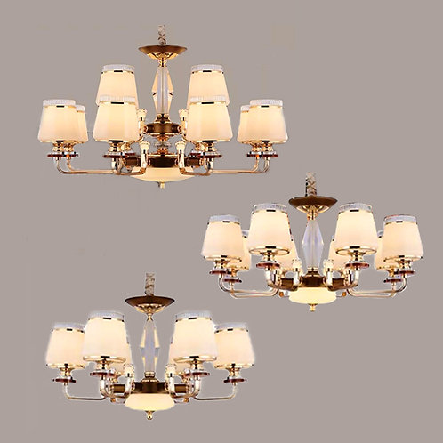 (包送貨)鐵藝電鍍/水晶燈 歐式吊燈 客廳房間燈(約5-7天到)