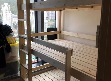 實木三層床(可訂做尺寸) 一個床位可有三張床