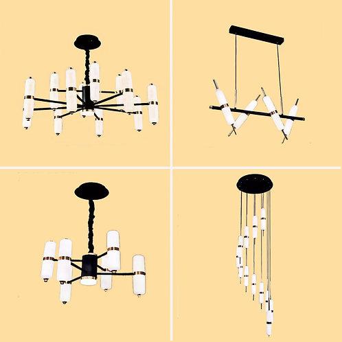 (包送貨)LED雙色調光燈 北歐風格 鐵藝風格 客廳房間燈(約5-7天到)