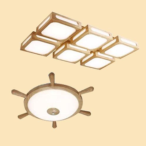 (包送貨)原木北歐風格 木質風格 天花燈 客廳房間燈(約5-7天送到)