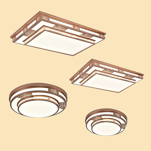 (包送貨)LED三色調光 中式風格 天花燈 客廳臥室房間燈 (約5-7天送到)