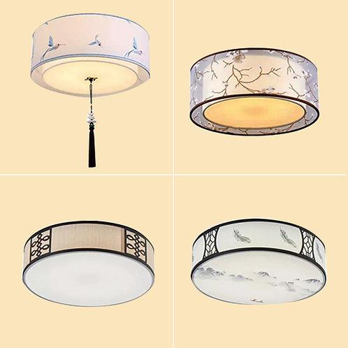 (包送貨)現代中式風格 布藝風格 鐵藝天花燈 客廳房間燈 (約5-7天送到)
