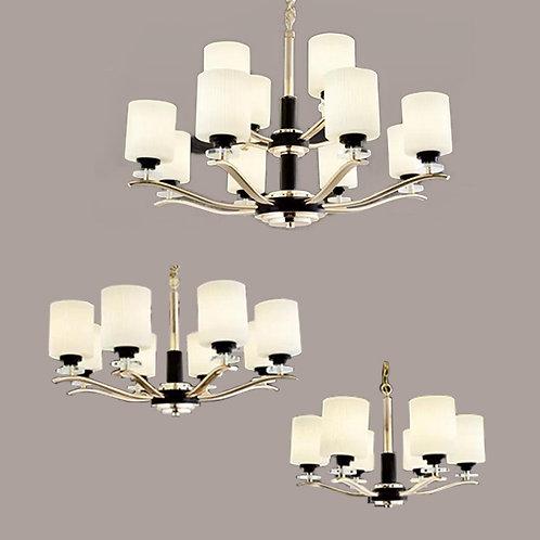 (包送貨)鐵藝電鍍/玻璃燈 歐式吊燈 簡約風格 客廳房間燈(約5-7天到)