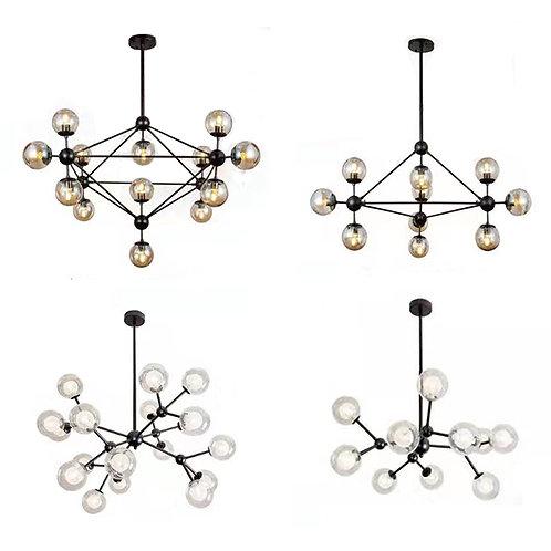 (包送貨)鐵藝風格 北歐風格 烤漆風格 時尚風格 客廳房間燈(約5-7天到)
