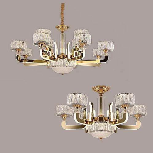 (包送貨)LED中性光 不鏽鋼/水晶燈 亞克力發光吊燈 時尚風格 客廳房間燈(約5-7天到)
