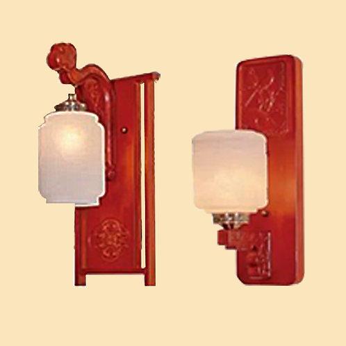 (包送貨)現代中式風格 木藝風格 橡木壁燈 客廳房間玄關燈 (約5-7天送到)
