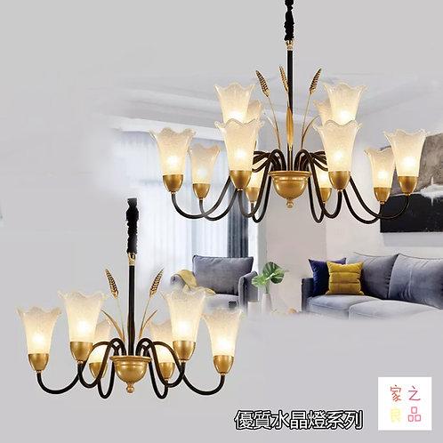 (包送貨)鐵藝風格 時尚風格 玻璃吊燈 客廳房間燈(約5-7天到)