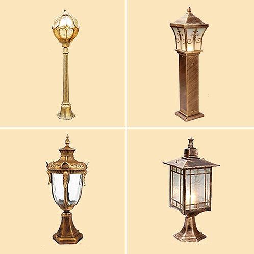 (包送貨)歐式復古風格 別墅室外庭院燈 坐地燈 戶外走廊過道燈 (約5-7天送到)