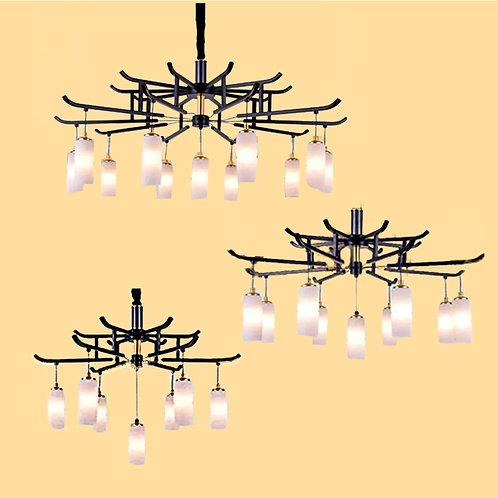 (包送貨)自帶光源燈 北歐風格 古典風格 鐵藝吊燈 客廳房間燈(約5-7天到)