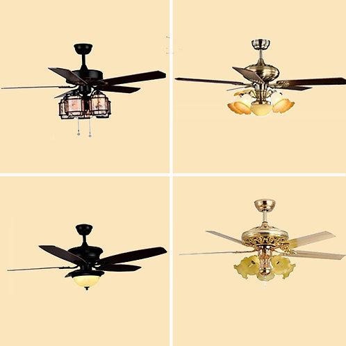 (包送貨) 風扇吊燈一體燈 鐵藝風格 客廳房間燈(約5-7天送到)