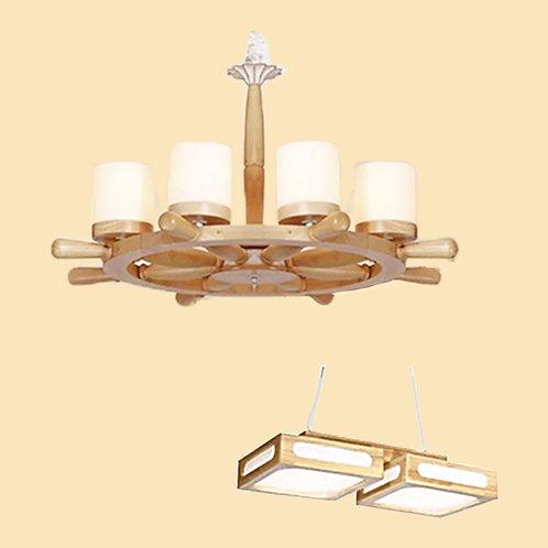 (包送貨)原木北歐風格 木質風格 吊燈 客廳房間燈 (約5-7天送到)