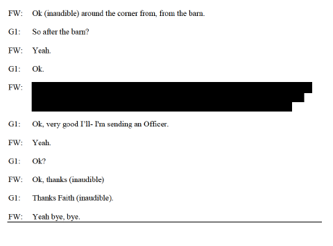 Faith Westman 911 Transcript P2
